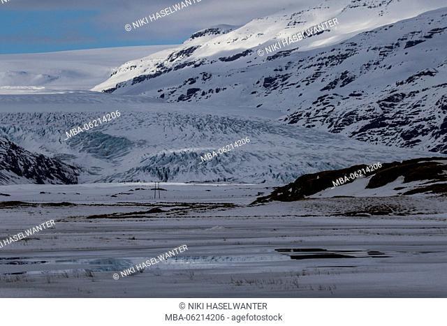 Foothills of Vatnajökullgletschers in Iceland