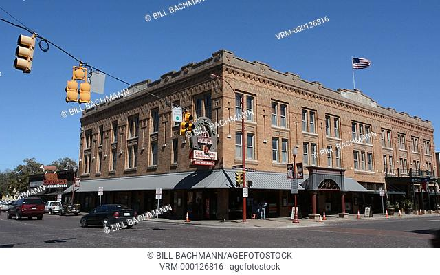 Ft Worth Texas Main Street near the Stockyard famous for the Longhorn herds that come thru town with Cowboys
