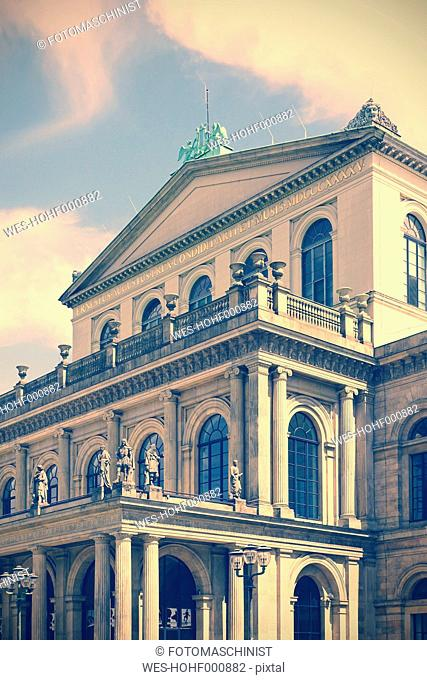 Germany, Lower Saxony, Hannover, State opera in the evening light