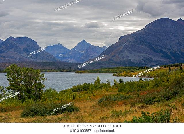 Two Medicine Lake is a high country lake surrounded by the Continental Divide in East Glacier, Glacier National Park