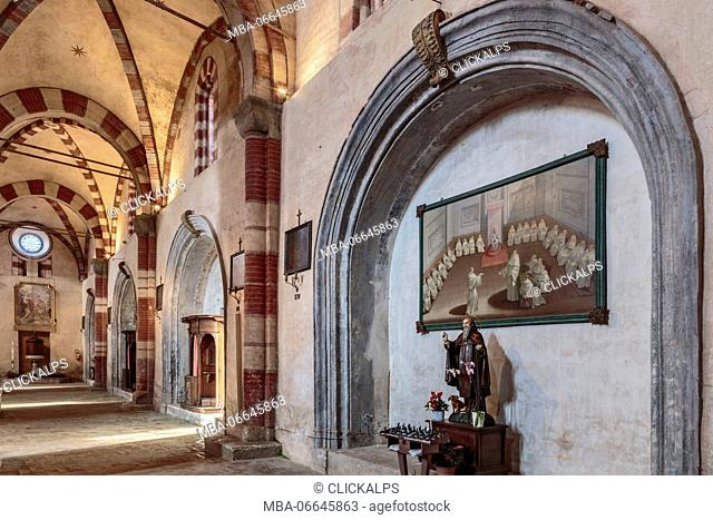 Staffarda, Cuneo province, Piedmont, Italy, Europe. Staffarda Abbey