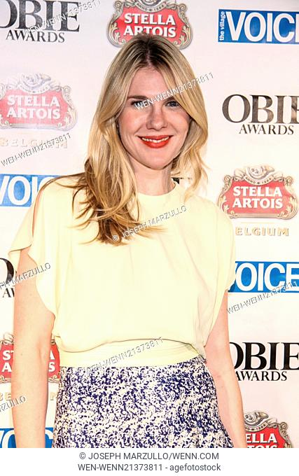 The 59th Annual OBIE Awards held at Webster Hall. Featuring: Lily Rabe Where: New York, New York, United States When: 19 May 2014 Credit: Joseph Marzullo/WENN