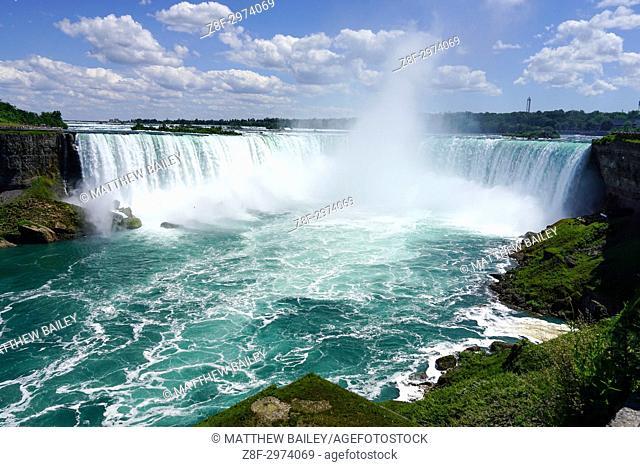 Admiring the views of Niagara Falls, Ontario, Canada