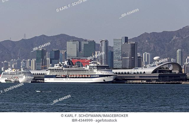 Kai Tak Cruise Terminal, cruise ships, Victoria Harbour, Kwun Tong District, East Kowloon, Hong Kong, China