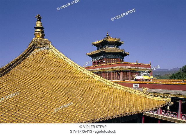 Architecture, Asia, Chengde, China, Chinese, Doctrine, Golden, Hebei, Heritage, Holiday, Landmark, Pagoda, Potaraka, Province, P