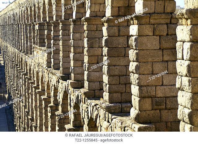 Roman aqueduct of Segovia  Segovia Spain