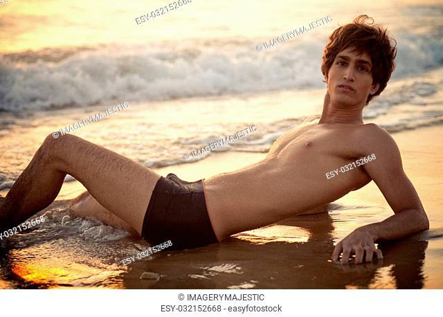 Man Posing On The Beach