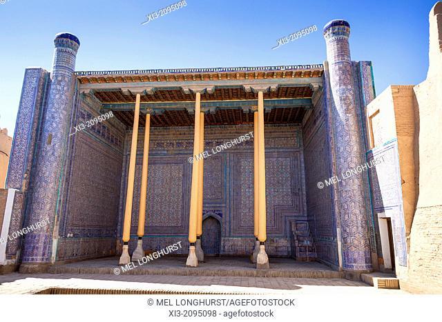 The Mosque in Kunya Ark, also known as Kohna Ark, Ichan Kala, Khiva, Uzbekistan