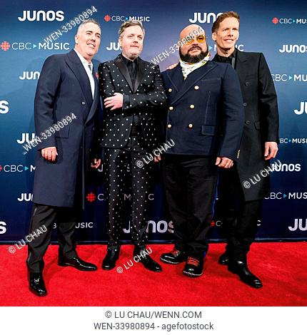 2018 JUNO Awards, held at the Rogers Arena in Vancouver, Canada. Featuring: Barenaked Ladies Where: Vancouver, British Columbia