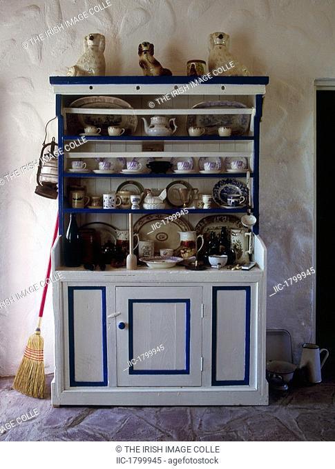 Irish Dresser, Achill Museum, Co Mayo, Ireland