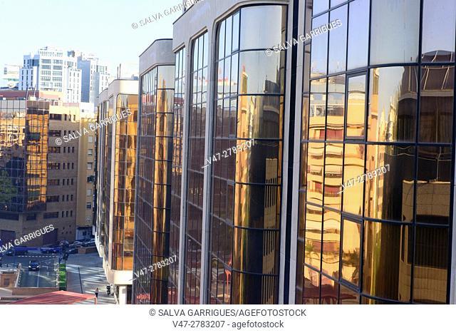 Office buildings in Valencia, Spain, Europe