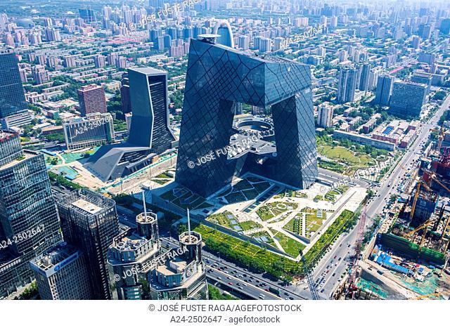 China, Beijin City, Guomao District CCTV Television Headquarters Bldg