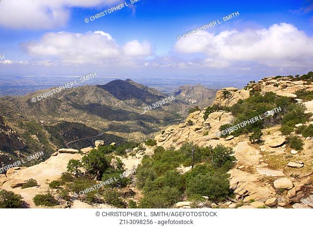View from Windy Point on Mount Lemmon in Arizona