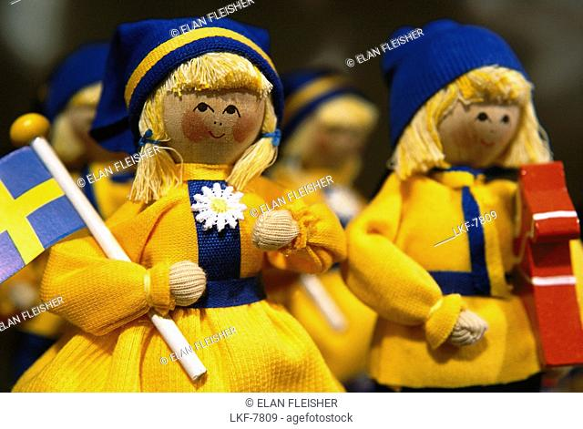 Dolls, Swedish souvenirs, Stockholm, Sweden