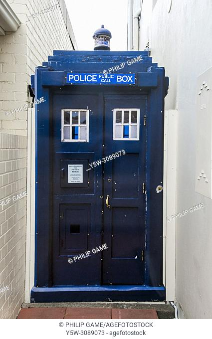 Channelling Doctor Who in Battery Point, Hobart, Tasmania, Australia