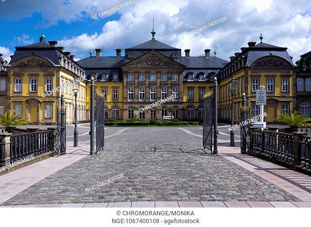 Old Baroque Residenzschloss royal palace, Bad Arolsen, Hesse, Germany, Europe