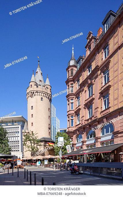 Eschenheimer Turm, historic city gate, Frankfurt am Main, Hesse, Germany, Europe