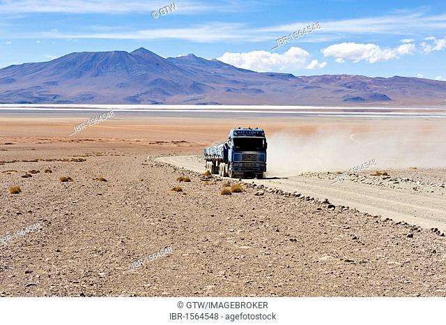 Altiplano, truck, Potosi, Bolivia, South America