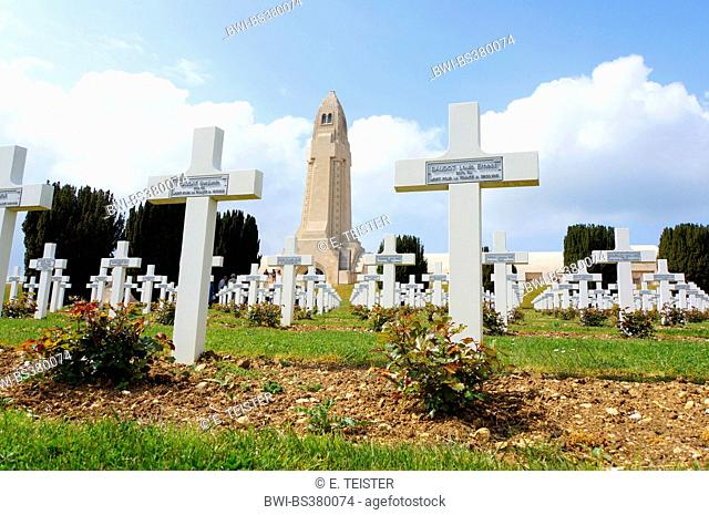 war graves and Douaumont Ossuary, France, Verdun