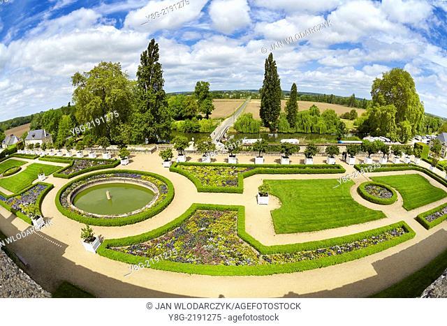 Usse Castle Garden, Loire Valley, France