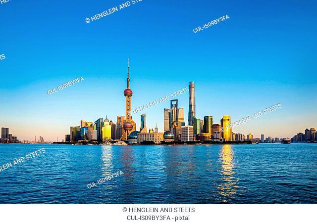 Huangpu river and Pudong skyline, Shanghai, China