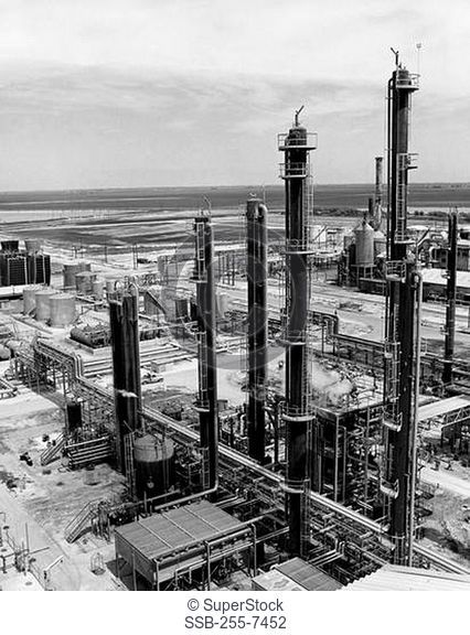 High angle view of a chemical plant, Temple, Texas, USA