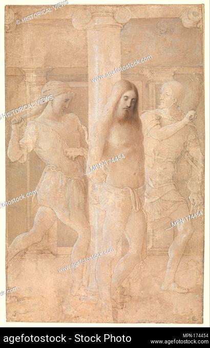 The Flagellation. Artist: Lombardy (?) , late 15th century; Date: late 15th century; Medium: Point of the brush and brown and light gray ink