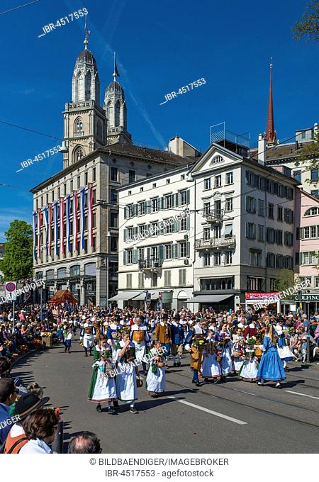 Costume parade of the guilds, Sechseläuten, Spring Festival, Zurich, Canton of Zurich, Switzerland