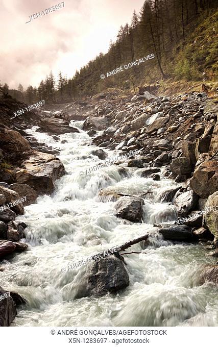 River, Switzerland Alps