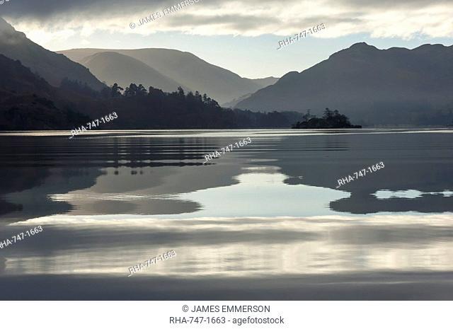 Ullswater, Little Island in November, Lake District National Park, Cumbria, England, United Kingdom, Europe