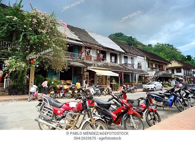 Khem Khong street of Luang Prabang, Laos