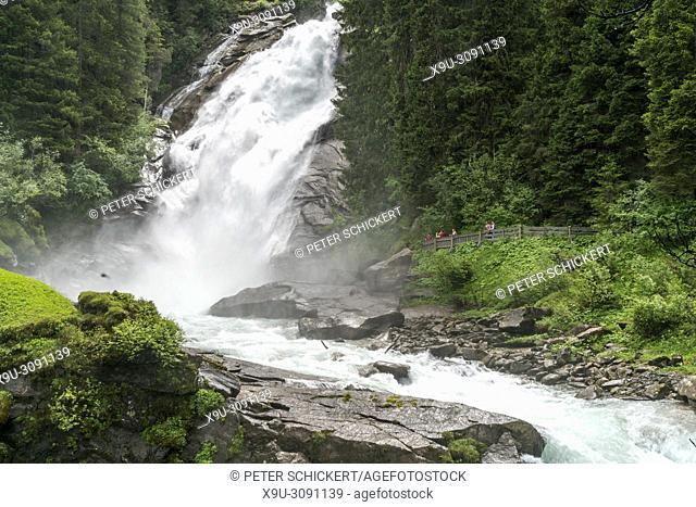 The Krimml Waterfalls in the High Tauern National Park, Krimml, Salzburg, Austria