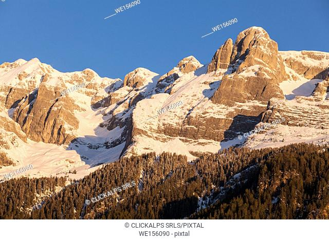 Tuenno, Tovel lake, Brenta dolomites, Adamello Brenta natual Park, Trento province, Trentino Alto Adige, Italy