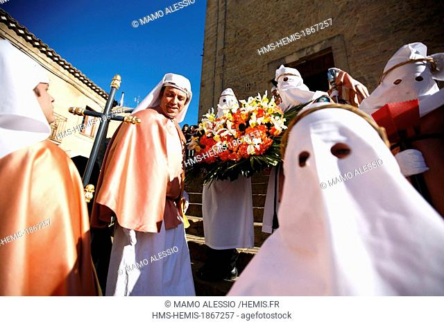 Italy, Sicily, Enna, Easter procession