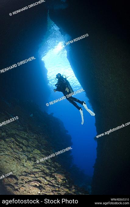 Scuba Diving in Bat Caves, Russell Islands, Solomon Islands