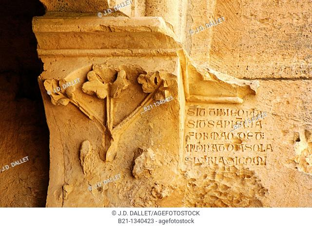 Latin inscriptions in the chapter room saying that if fortune, wisdom and beauty is given to you, you have to keep care about proudness