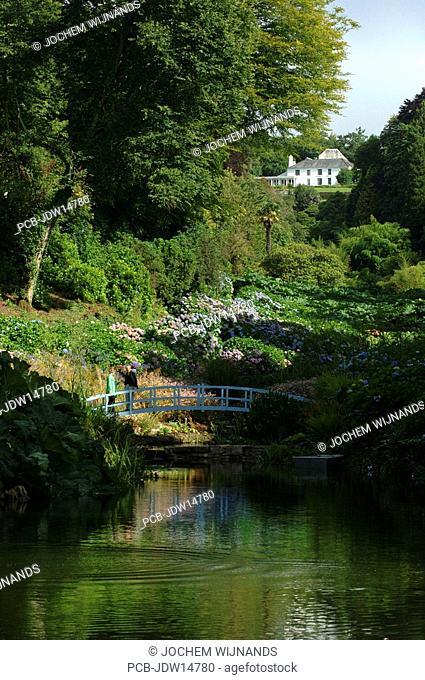 Cornwall, Mawnan Smith, Trebah botanical Garden, a sub-tropical ravine garden