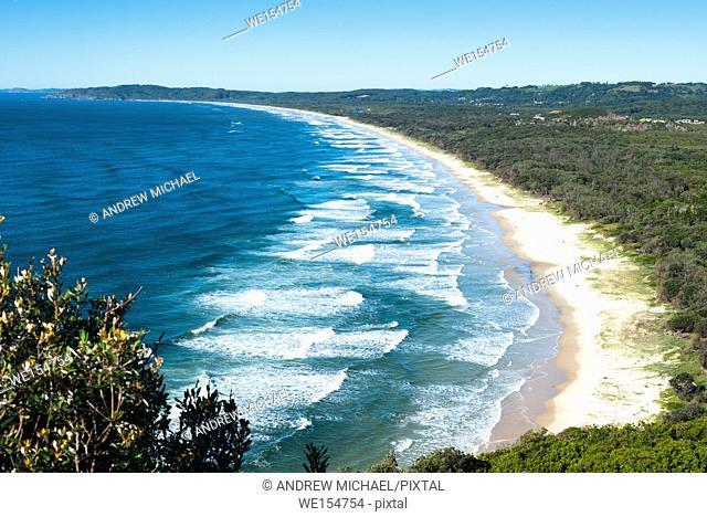 Byron Bay, New South Wales, Australia. Tallow Beach bordering Arakwal National Park