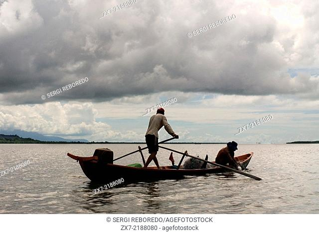 Boat in the Ream National Park. Ream National Park, 18 kilometres outside the beach resorts of Sihanoukville, is Cambodia's most established national park