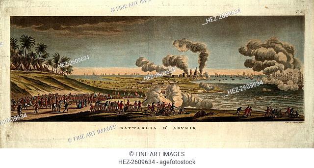 The Battle of Abukir on 25 July 1799, 1799. Artist: Pera, Giuseppe (active 1799-1839)