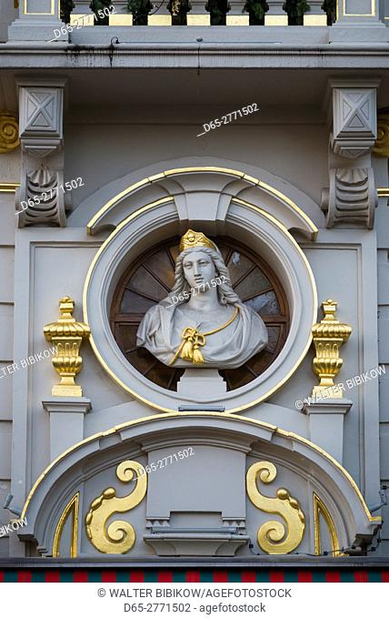 Belgium, Brussels, Grand Place, Guild Hall detail