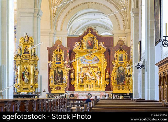 Altar of the Christuskirche, Museggmauer, Lucerne, Switzerland, Europe