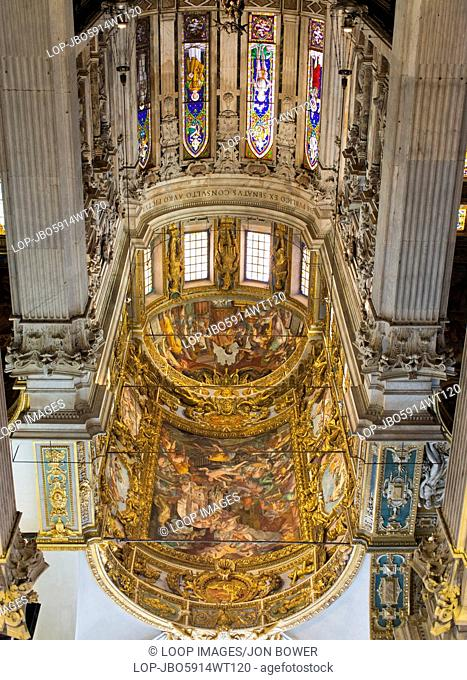 The interior of Genoa's San Lorenzo Cathedral