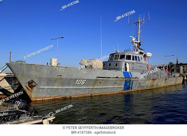 Coast guard ship Maru PVL-106 in the Port Museum, Lennusadam Seaplane Harbour Museum, Tallinn, Estonia