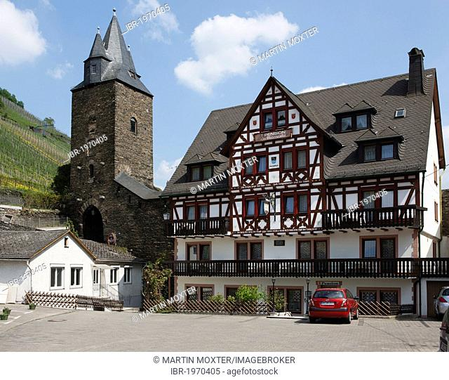Historic district of Bacharach, Unesco World Heritage Site Upper Middle Rhine Valley, Rhineland Palatinate, Germany, Europe, PublicGround
