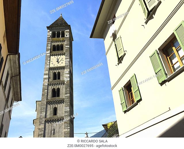 Italy, Lombardy, Valtellina, Tirano, Church of San Martino, Belfry