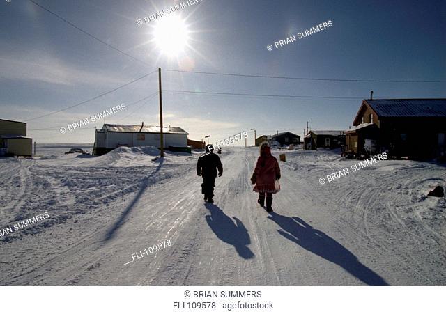 B.Summers, Walking Down Road, Nunavut