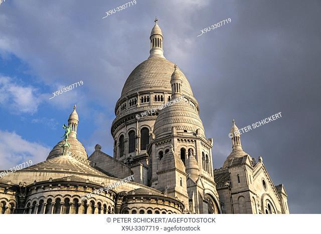 Die Basilika Sacre Coeur, Montmartre, Paris, Frankreich | Basilica Sacre Coeur, Montmartre , Paris, France