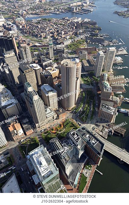 Greenway aerial view, Boston, MA
