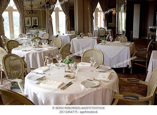 The Westcliff Hotel Johannesburg South Africa. Inside of the restaurant